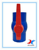 Válvula de Esfera de PVC de cor azul com a norma ISO9001/BSPT/NORMA DIN