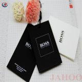 Papelão preto Hang Tag (Etiqueta de papel personalizados Hang Tag