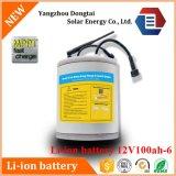 Pacchetto 12V 100ah della batteria dello Li-ione della Banca 18650 dell'UPS Powe