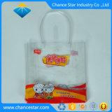 Couleur personnalisée imprimé sac fourre-tout Zip transparente en PVC avec poignée