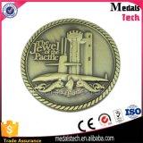 La couleur de cuivre argentée d'or a plaqué la pièce de monnaie d'enjeu de Darbar de RAM en métal