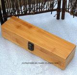 Rectángulo de regalo de bambú fino con la laca respetuosa del medio ambiente del bloqueo