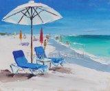 De Schilderende Fabrikant van de kunst met het Materiaal van het Zand