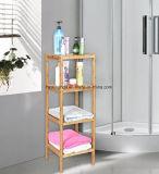 Prateleira de banheiro 4 Tier Multifunctional Wooden Shower Caddy