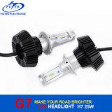 Farol do carro do diodo emissor de luz do G7 25W 4000lm a Philips H7 do bulbo de lâmpada do diodo emissor de luz para o auto farol