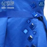 [سليمّرينغ-ويست] زرقاء يثنى [ويستبند] مثير سيدات نمو طويلة حزب ثوب
