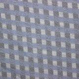 薄い青い縞ポリエステル布