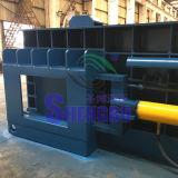 Máquina de enfardamento de aparas de metal automática com saída de grandes dimensões