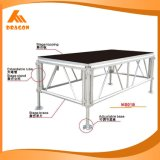 Ajustable de aluminio de alta calidad 0.6-1.4m de altura de una etapa de exposición