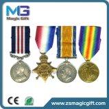 Médaille personnalisée par Quqality élevée en métal de service de la défense de la Corée