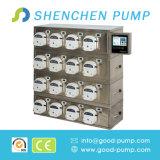 4 füllende Köpfe für e-flüssige zugeführte Pumpen