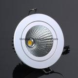 Cortar la MAZORCA ajustable 20W LED de 140m m Downlight para la iluminación de interior