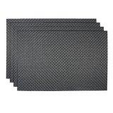Zwarte Kleur 8X8 TextielPlacemat voor Tafelblad & Bevloering