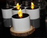 Indicatore luminoso chiaro grave della candela con la pila solare