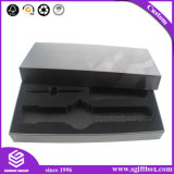 De zwarte Doos van de Verpakking van de Gift van de Juwelen van het Fluweel voor Horloge of Elektronisch Product