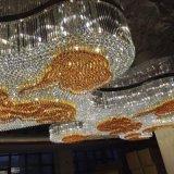 Buena calidad Ámbar decorativo moderno proyecto hotelero araña de cristal
