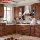 Gabinete de cozinha de madeira americana Teak Madeira (GSP9-001)