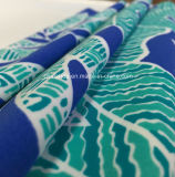 Tela verde de la impresión de la hoja para el traje de baño (HD1401110)