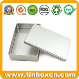 Изготовленный на заказ обыкновенные толком серебряные коробки прямоугольника олова для тары для хранения металла
