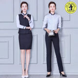 Vente en gros de fantaisie de dames Styles OEM Design Uniform Office Ladies Uniform