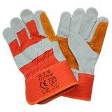 Croûte de cuir de vache de travail de renforcement de la sécurité des gants de la main le Palm