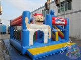 Almofada insuflável castelo insuflável para crianças utilizados castelo insuflável com combinação de slides