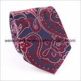 Laço de tecido de seda dos homens Gravata feita à mão do negócio do jacquard