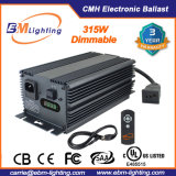 Hydroponic Low Frequency 315W CMH Cdm Electronic Grow Light Dimmable Digital ballast for Philips with LED posting