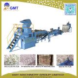 El bloque plástico de los PP del PE embotella la película que se lava reciclando la máquina