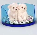 8mm acrílico Oval Cama Pet, camas de animal de plástico para cães, gatos