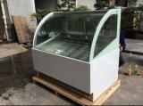 Showcases de congelação do indicador do gelado de aço inoxidável com 12 bandejas