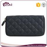 Изготовленный на заказ портмоне метки частного назначения, создатель бумажника PU Гуанчжоу кожаный, черный бумажник