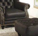 Estilo europeu simples simples quarto sofá de couro cadeira