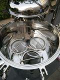 A elevada eficiência, 304 aço inoxidável do alojamento do filtro de mangas vários líquidos