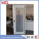 Puerta del cuarto de baño del PVC del vidrio helado