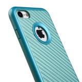 Ctunes Ino Line Infinity [Curvo Metálico] [Slim Fit] Premium PC parachoques con cepillo de patrón de amortiguación TPU funda protectora para el iPhone 7