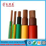 Fil électrique isolé par PVC de cuivre pur de conducteur du fil de terre BV2.5mm2