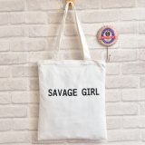 Promotion Trendy Organic Cotton Logo Impression Canvas Shoulder Bag