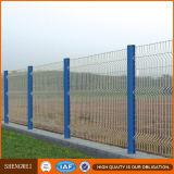 Chaud plongé galvanisé + PVC a enduit la frontière de sécurité soudée appuyée par V de treillis métallique