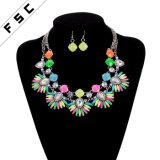 Commerce de gros de bijoux de crémation derniers modèles de bijoux Set avec collier Earring