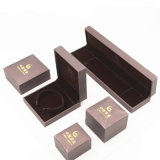 Contenitore di monili della vigilanza dell'anello del braccialetto con stampa dorata (J37-E1)