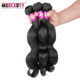 Cabelo não processado do Virgin dos Peruvian do Weave 100% do cabelo humano de preço de fábrica