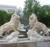 Décoration de jardin en pierre Lions Sculpture statue en marbre