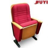 Proveedor de China a prueba de fuego cubierta de tela de conferencias de actualización de las patas de acero plegable respaldo silla Auditorio de la audiencia