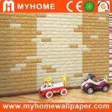 Panneau de mur auto-adhésif de la mousse 3D du papier de mur XPE imperméable à l'eau