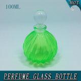 100ml diagonale cristal de verre bouteille de parfum avec Gasbag pulvérisateur à pompe