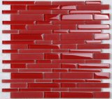 Red Color Square Swimming Pool Tiles Mosaic Glass with Factory Price