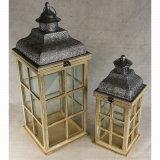 [ووودن&متل] زجاجيّة خارجيّ أثر قديم حديقة شمعة فانوس