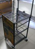 Подвижные металлические розничная торговля напольными дисплей для установки в стойку с 4 колеса