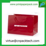 Подгонянный роскошью мешок красного водоустойчивого документа бумажный с логосом
